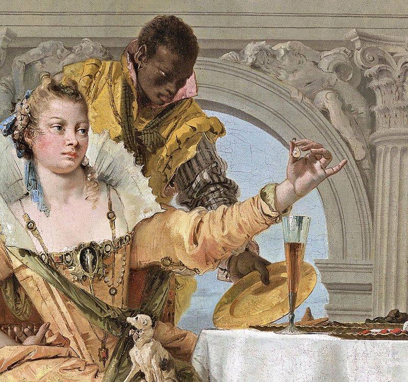 Giovan Battista Tiepolo: Il banchetto di Cleopatra _ dettaglio