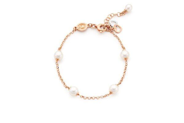 bracciale con perle e cuori