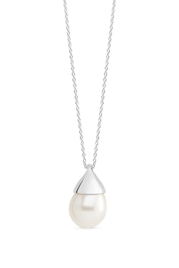 Genisi pearls - Pendente con perla bianca a goccia - GP_140