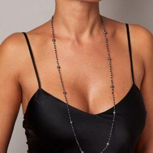 "Rosario ""Chanel"" con perle nere"