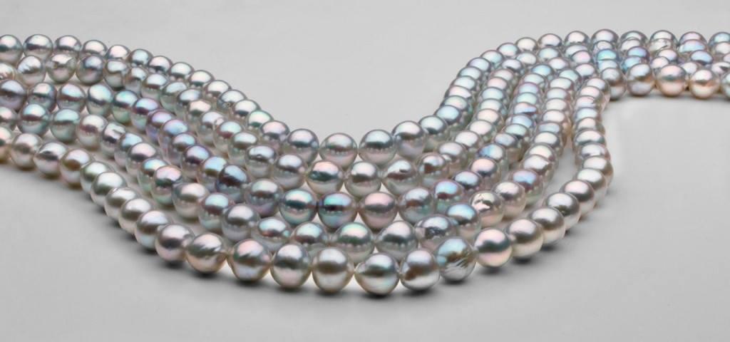 Genisi - perle akoya grigie