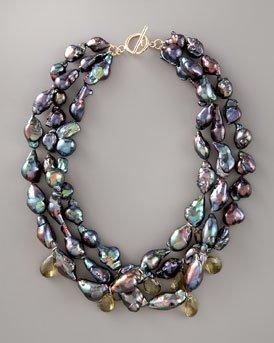 Tahitian baroque necklace