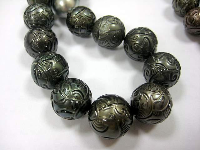 black-carved-pearls