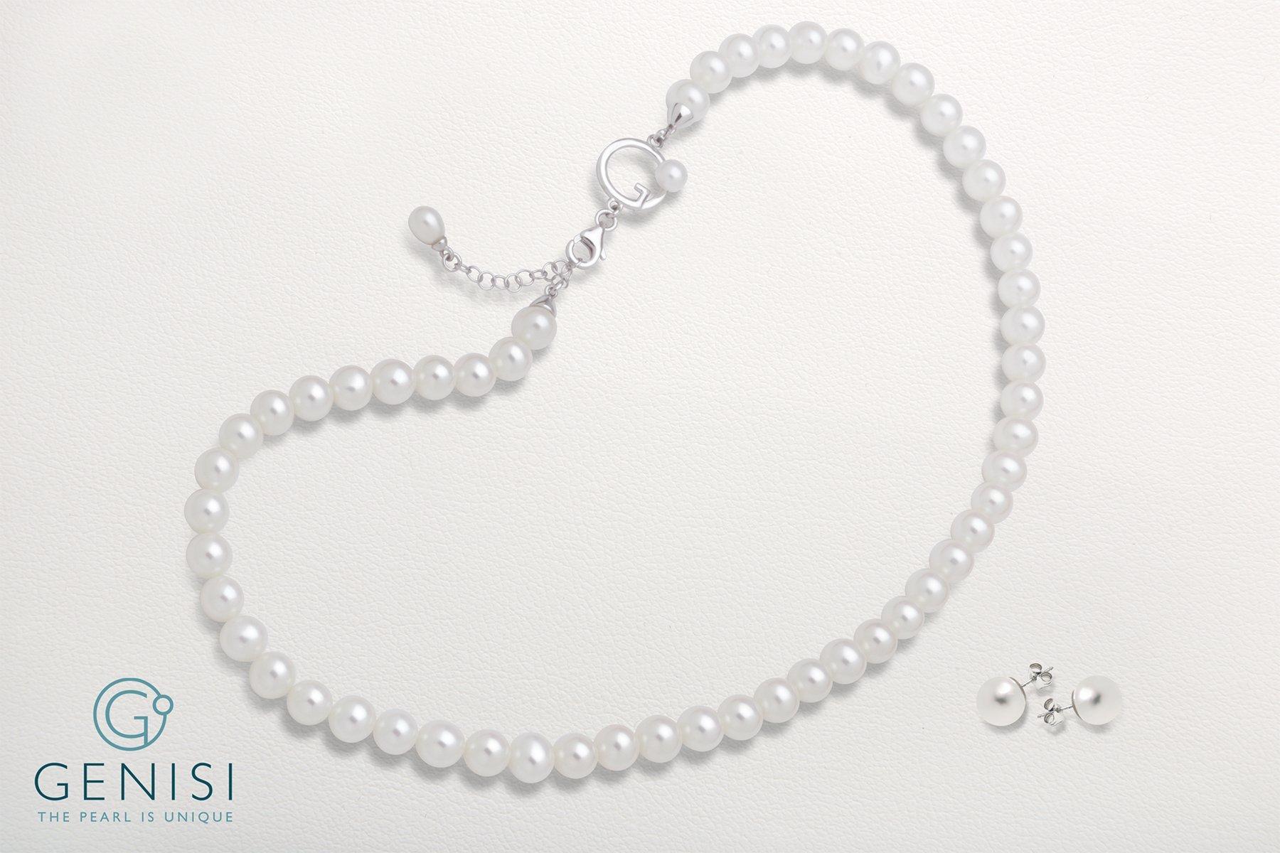 Parure di perle - Collana e orecchini