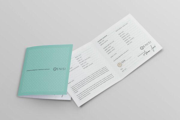 Genisi Pearls - certificato gemmologico