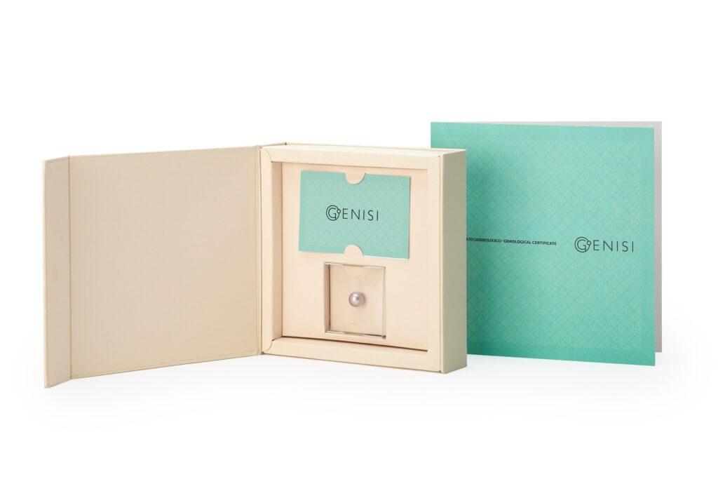 Genisi pearls - confezione perla unica rosa naturale - scatola unique_s