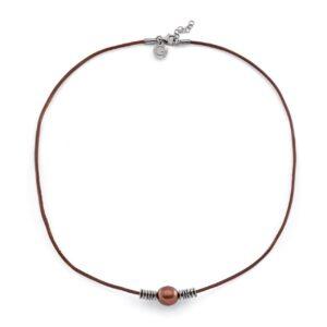 collier con perla choco Unisex