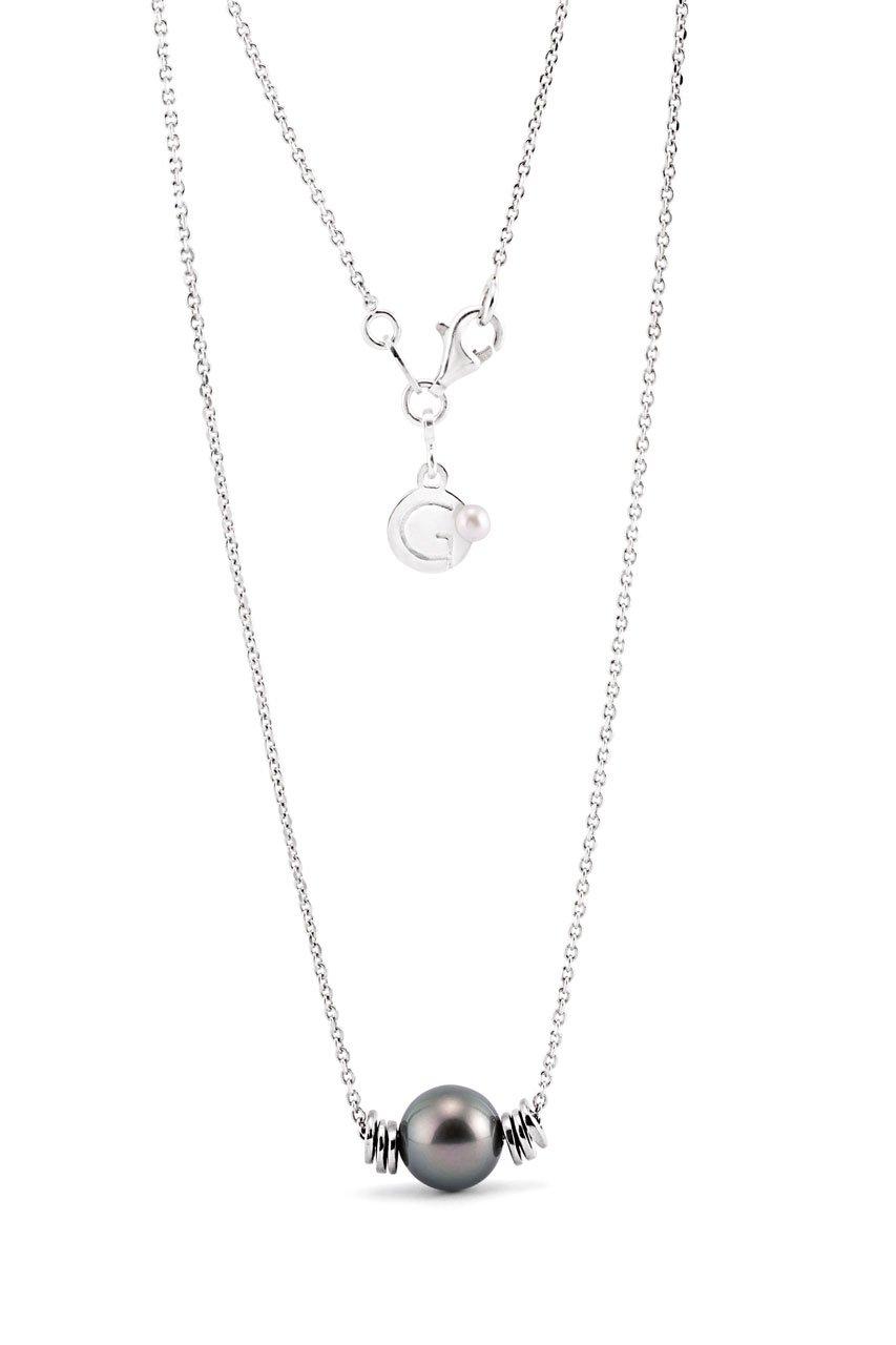 Collier Unisex con perla Tahiti