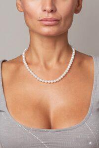 perle di fiume collana girocollo
