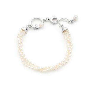 bracciale triplo con piccole perle d'acqua dolce
